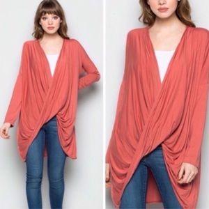 Tops - Rose Long Sleeve Draped Top